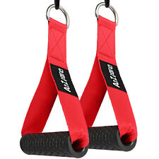 A2ZCARE Gym Attachment Handle /Exercise Handle Red for Cable Machines (Set of 2)