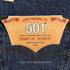 Levis 501 Jeans New Mens Size 32 x 34 STONEWASH Original Button Fly Levi's #753