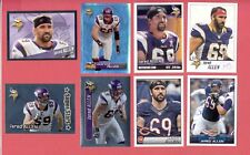 2011-2015 Panini JARED ALLEN Minnesota Vikings Chicago Bears Sticker Lot + Foils