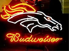 "New Budweiser Denver Broncos Neon Light Sign 20""x16"""