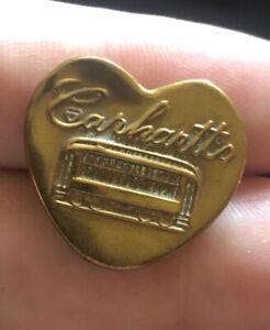 "Bb HEART SHAPE Carhartt's OVERALL BUTTON Trolley Car Wobble shank Medium 7/8"""