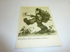 Alte Originale Hummel Karte Schwarz weiß gezackter Rand NR S 25 Müller unbesch.