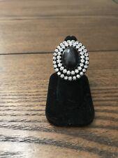 Mark By Avon Brown Stone & Rhinestone Stretch Ring