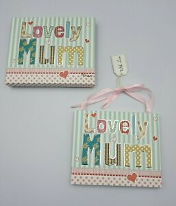 Lovely Mum Quote Hanging Plaque Birthday Celebration Gift