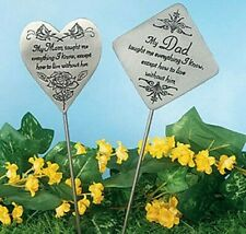Memorial Garden Stake Mom weather-resistant, pewter-tone finish and is engraved