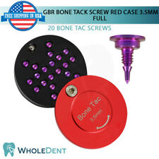 GBR Bone Tack Screw 3.5mm Pin Red Full Case Membrane Fixation Dental Implant Tac