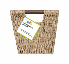 Honey Can Do  17 in. L x 9 in. W x 8 in. H Brown  Woven Basket