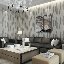 3D Satin Sliver Wave Wallpaper Volume Decoration Silver Grey Wall paper Rolls