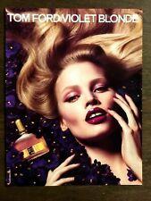 Original 2011 / 2012 UK Vogue Magazine Art Advert Picture Tom Ford Violet Blonde