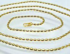 Kette  Oval  Kugelkette 40 cm   925  Silber  STERLINGSILBER  Vergoldet
