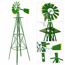 Patio Metal Windmill Garden Decoration Weather Rust Resistant Wind Spinners Us