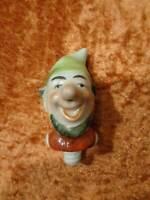 Corcho Decorativo / Corcho para Botellas - Porcelana - Vintage - 7,5CM - Enano