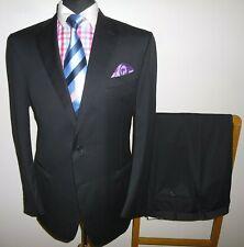 Mens Canali Suit 44 R Black Wool Jacket Trousers Waist 40 Leg 32