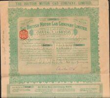 Titre 1 action: THE BRITISH MOTOR CAB Cy 1914 (GRANDE-BRETAGNE) (Q)