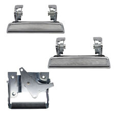 Outside Door Handles Set for F150 - Front Left Right + Tailgate - Chrome Metal