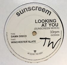 Sunsceam LOOKING AT YOU Winchester Slate Remix Vinyl Dance Record Rave DJ Icey