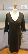 Laura Ashley UK 14 Grey Smart Office Work Pencil Dress With Pockets