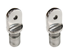 2 x Boat Canopy Fitting Tube Ends 25mm Tube Stainless Steel Bimini Fitting