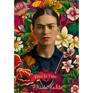 Frida Kahlo Viva la Vida! Metal Sign 290mm x 200mm (nm)