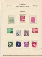 germany 1956 democratic republic stamps page  ref 18750