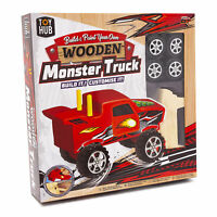 Build Paint Your Own Truck Wooden Monster Truck Kids Construction Craft Kit