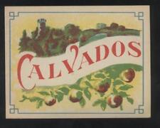 ANCIENNE ETIQUETTE CALVADOS  Boisson Bistrot Alcool Digestif Eau de vie