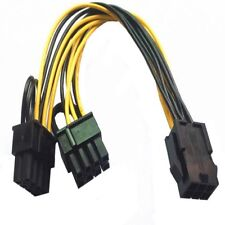 1pc PCI-E 6pin 2x 6+2-pin (6-pin/8-pin) Power Splitter Cable PCIE PCI Express