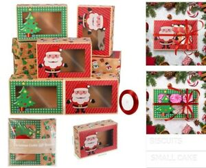 12pcs Christmas Candy Cookie Boxes Bakery Gift Boxes Cupcake Muffin Cake Box USA