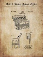 Old, vintage WURLITZER accordion - histor. information 1936/38 for poster, print