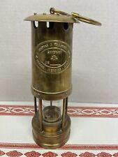 E. Thomas & Williams  Ltd. Makers Aberdare Wales~ Cambrian Brass Miner's Lamp