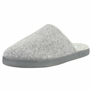 Toms Harbor Mens Smoke Grey Slippers Shoes - 9.5 US
