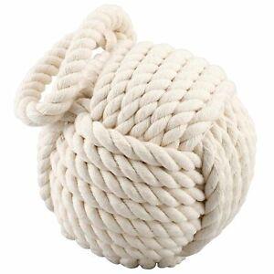 Nautisch Gewichtet Creme Seil Kugel Türpuffer - Schwer Tolle Türpuffer