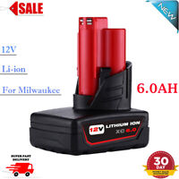 New For Milwaukee M12 Lithium-ion 12V 6.0Ah 48-11-2460 48-11-2440 Battery Pack