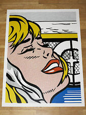 "ROY LICHTENSTEIN POSTER "" SHIPBOARD GIRL "" COMIC POP ART POSTER PLAKAT in MINT"