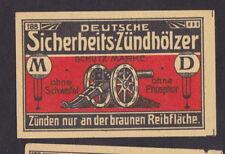 Ancienne  étiquette   allumettes Allemagne    BN44562 Canon
