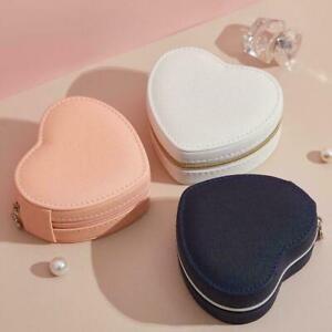 Heart Shape Portable Jewelry Box Travel Organizer PU 2021 HO Box Jewelry F0T8