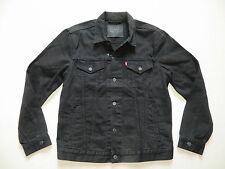Levi's Biker Jacke Jeansjacke Gr. L, Schwarz ! Original Black Denim, wie NEU !