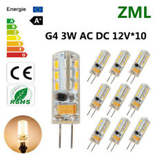 10x G4 LED Light Bulb 24 2835SMD Candle Lamp 12V White Warm Silicone Crystal