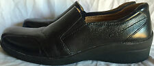 Womens Dr. Scholl's Shoes Sz 7 Leather Leslie Comfort Shoe Slip-on Black Loafer