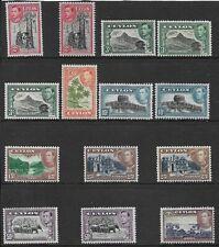 CEYLON 1938-49 2c. to 1r. FINE MH RANGE OF PERF/WATERMARK TYPES. (512)