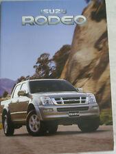 Isuzu Rodeo range brochure Oct 2003