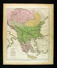 1859 Gall & Inglis Map - Greece Turkey in Europe Hungary Transylvania Balkans