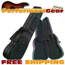 Hard Foam Contoured Electric Guitar Case w/ Nylon Exterior, form Foam Interior