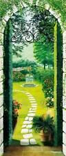 Türtapete Türposter Pforte zum Garten Fototapete Wandtapete 86x200cm