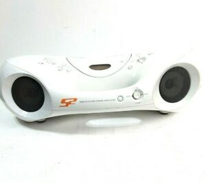 Sony ZS-XN30 AM/FM Portable Radio CD MP3 Boombox White Mod Design Works Well