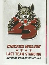 2018-19 Chicago Wolves pocket schedule, Adobe Gila's ad two (2) schedules