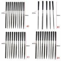 Precision Needle File 5/10x Set Jewelers Woodworking Metal Glass Hobby Tool Kit