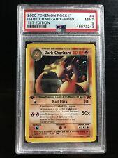 2000 Pokemon Team Rocket 1st Edition Holo Dark Charizard #4 PSA 9 MINT