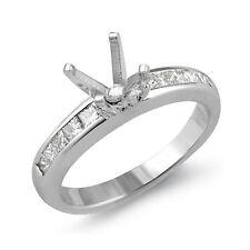 0.50 Ct Princess Diamond Semi Mount Wedding Engagement Ring 14K Gold White F VS1