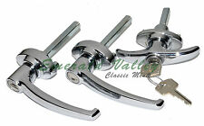 Classic Mini 1959-1965 New Chrome 3-Piece Exterior Handle Kit Austin, Morris